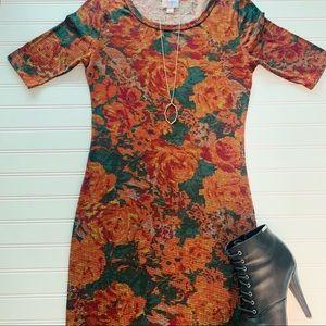Lularoe Fitted Julia Dress Digital Roses